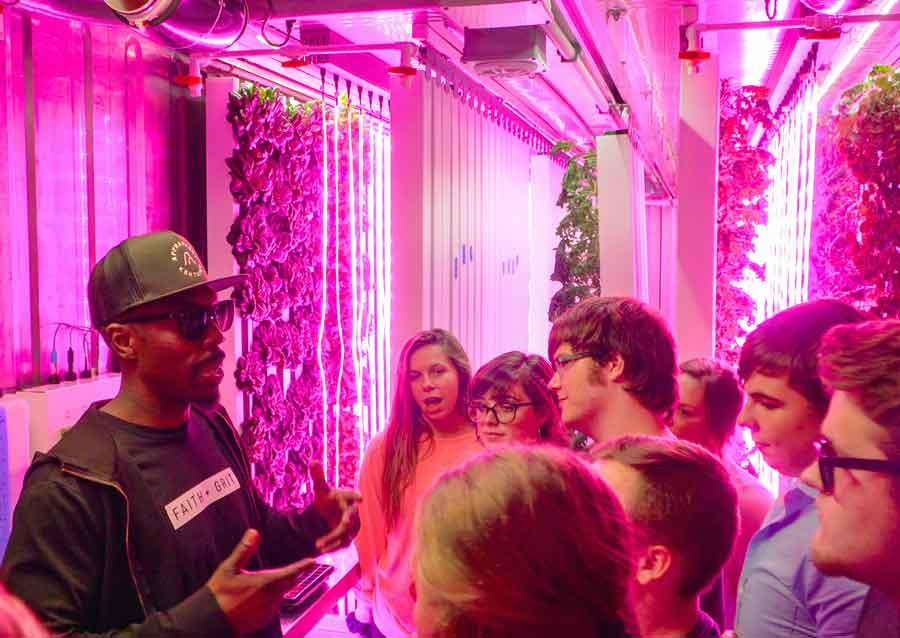 Students get briefed on container farming