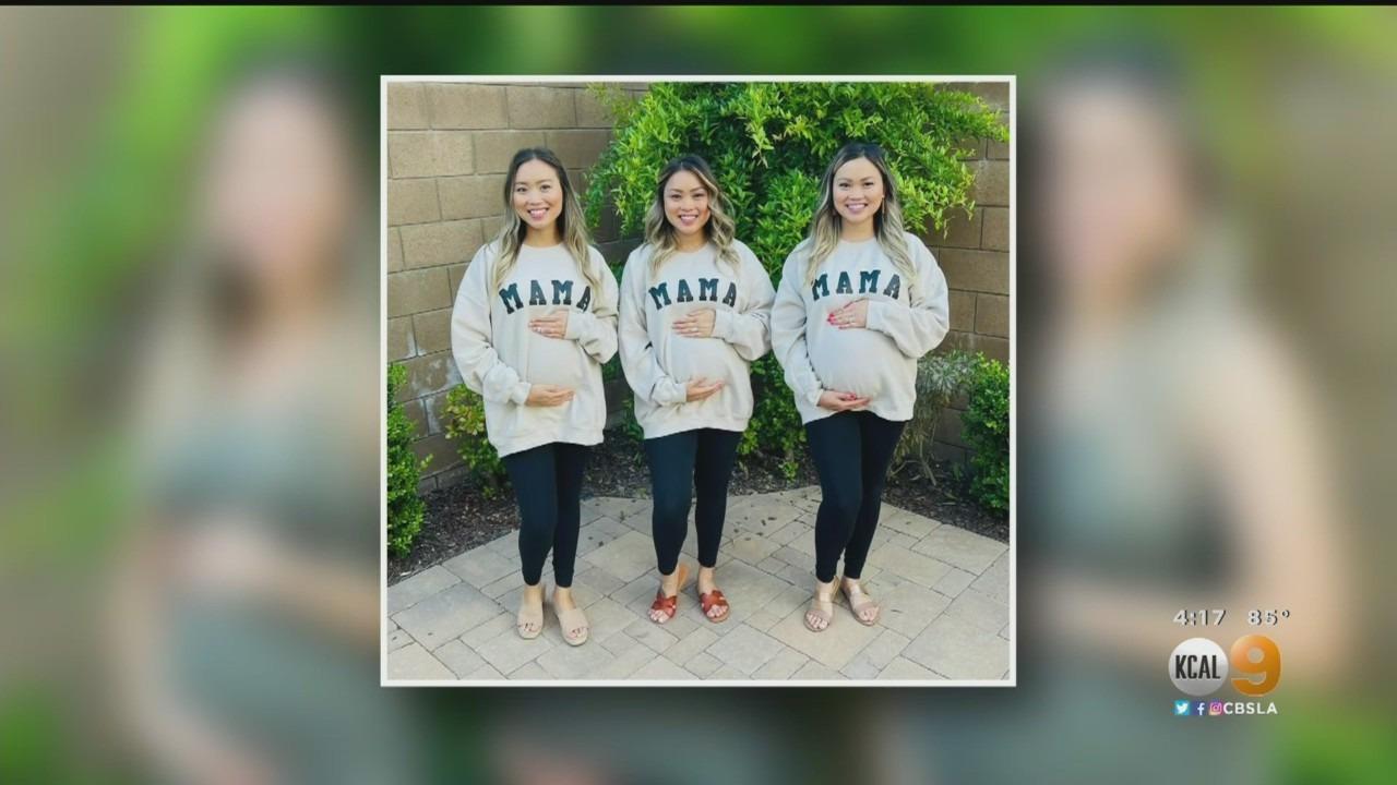 Three pregnant sisters