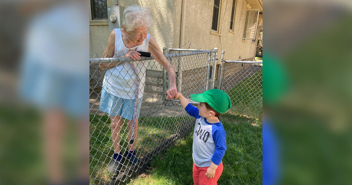 The Olsons didn't see their neighbor, Mary, much before the pandemic – until their 2-year-old son formed a friendship with her.