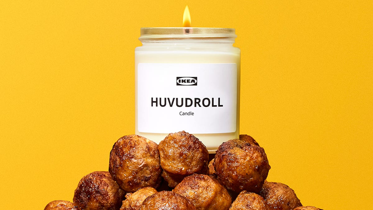 Ikea meatball candle