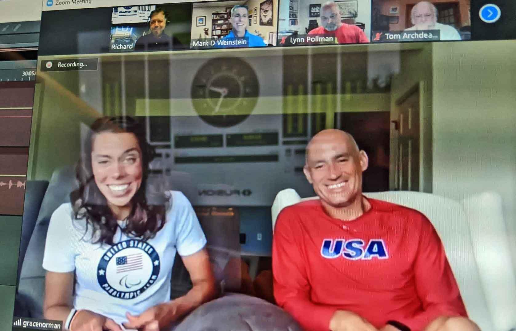 Grace Norman & Coach Greg Mueller on Zoom