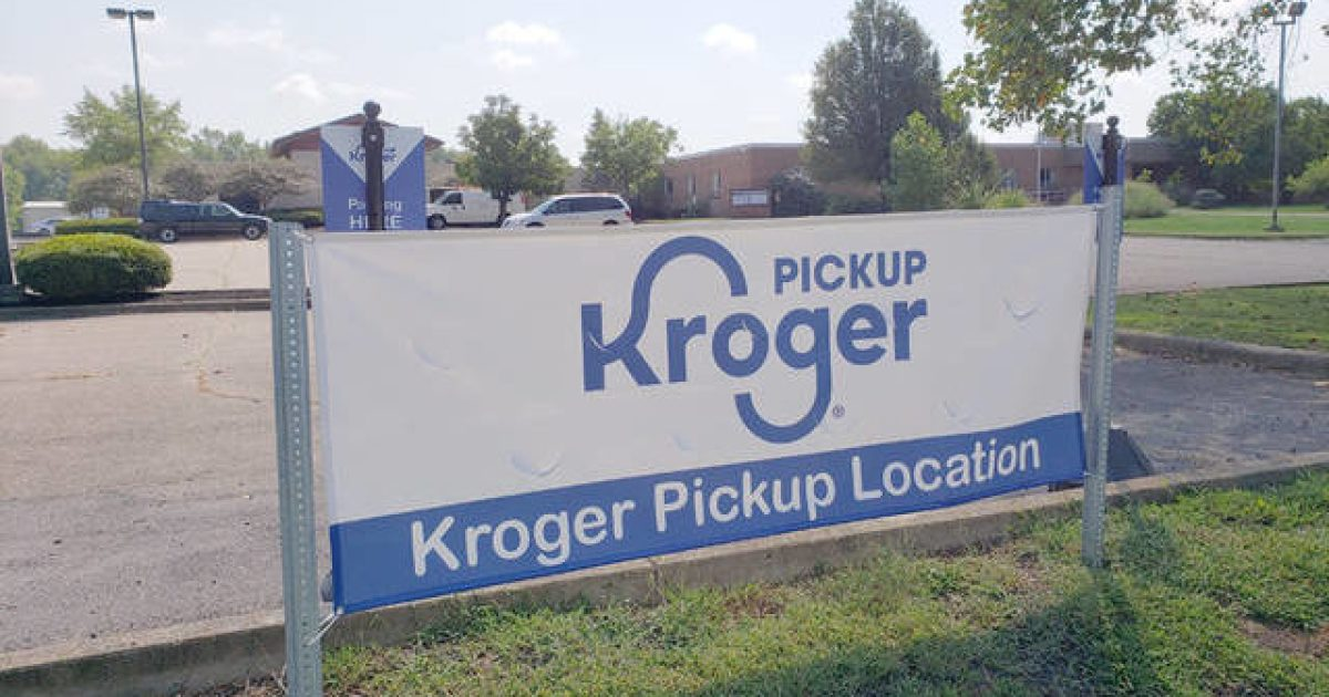 Kroger pickup sign