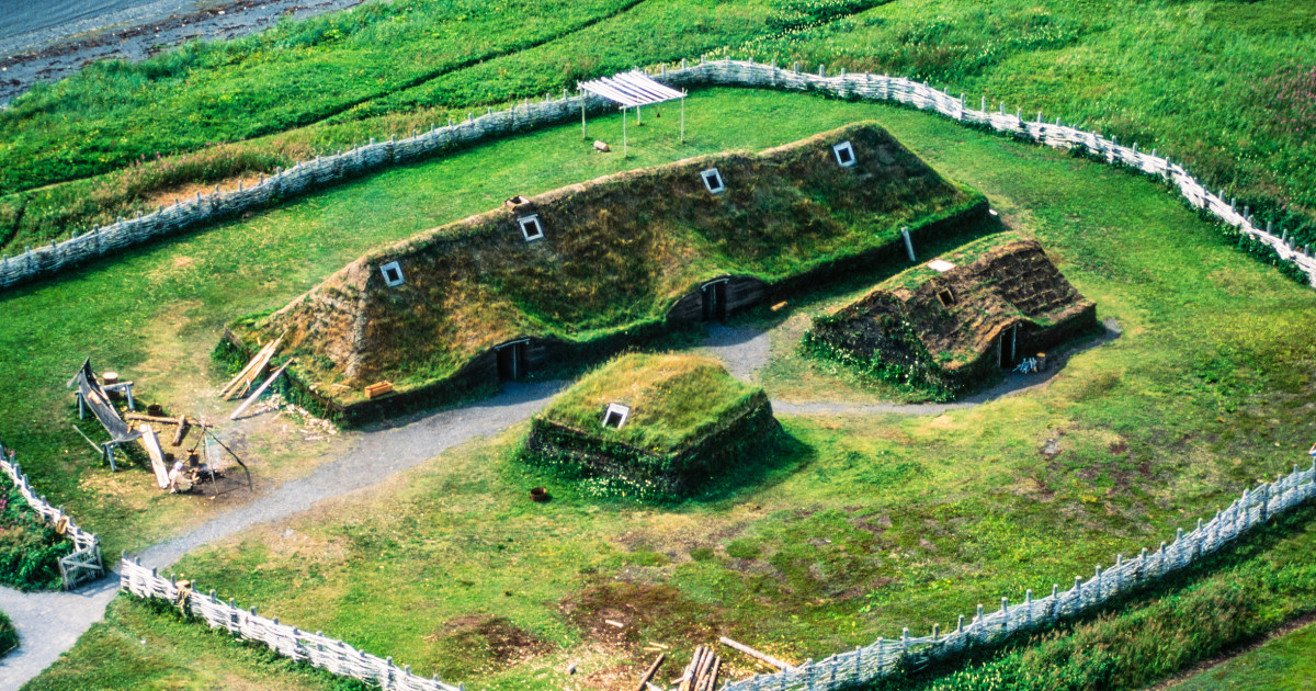 reconstructed Norse longhouse