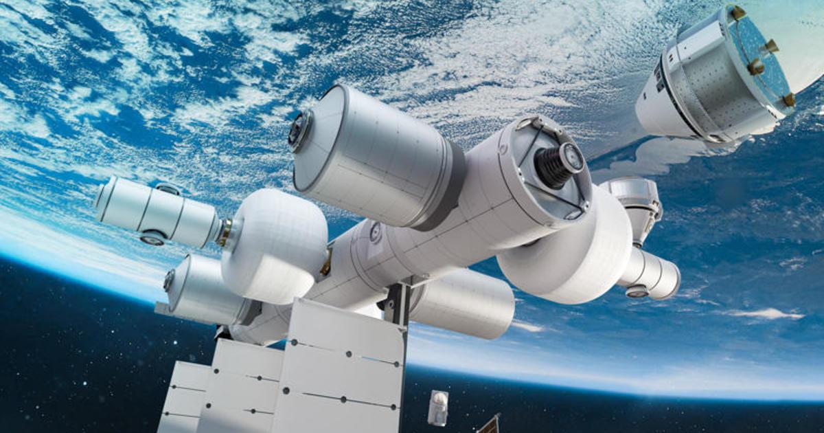 Mock up of Blue Origin Space Station