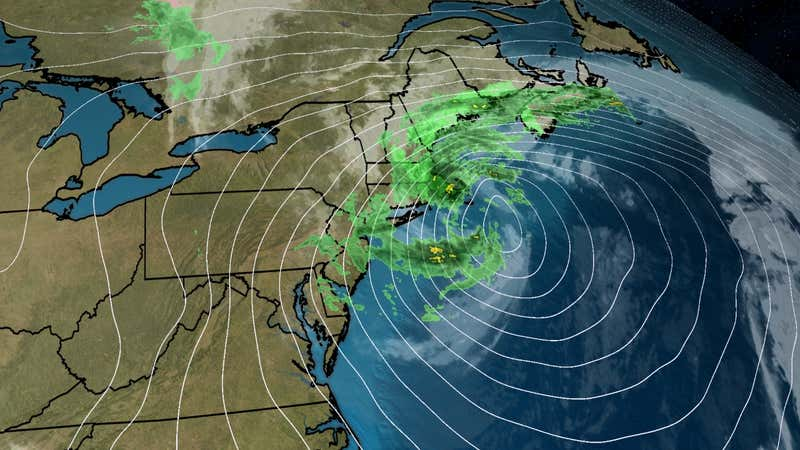Weather map of Nor'easter