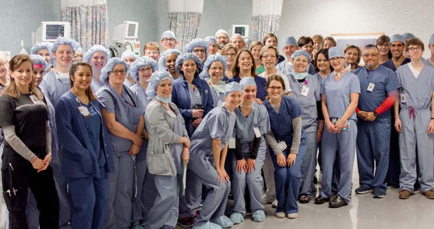 Group shot of Surgery on Sunday medical volunteers