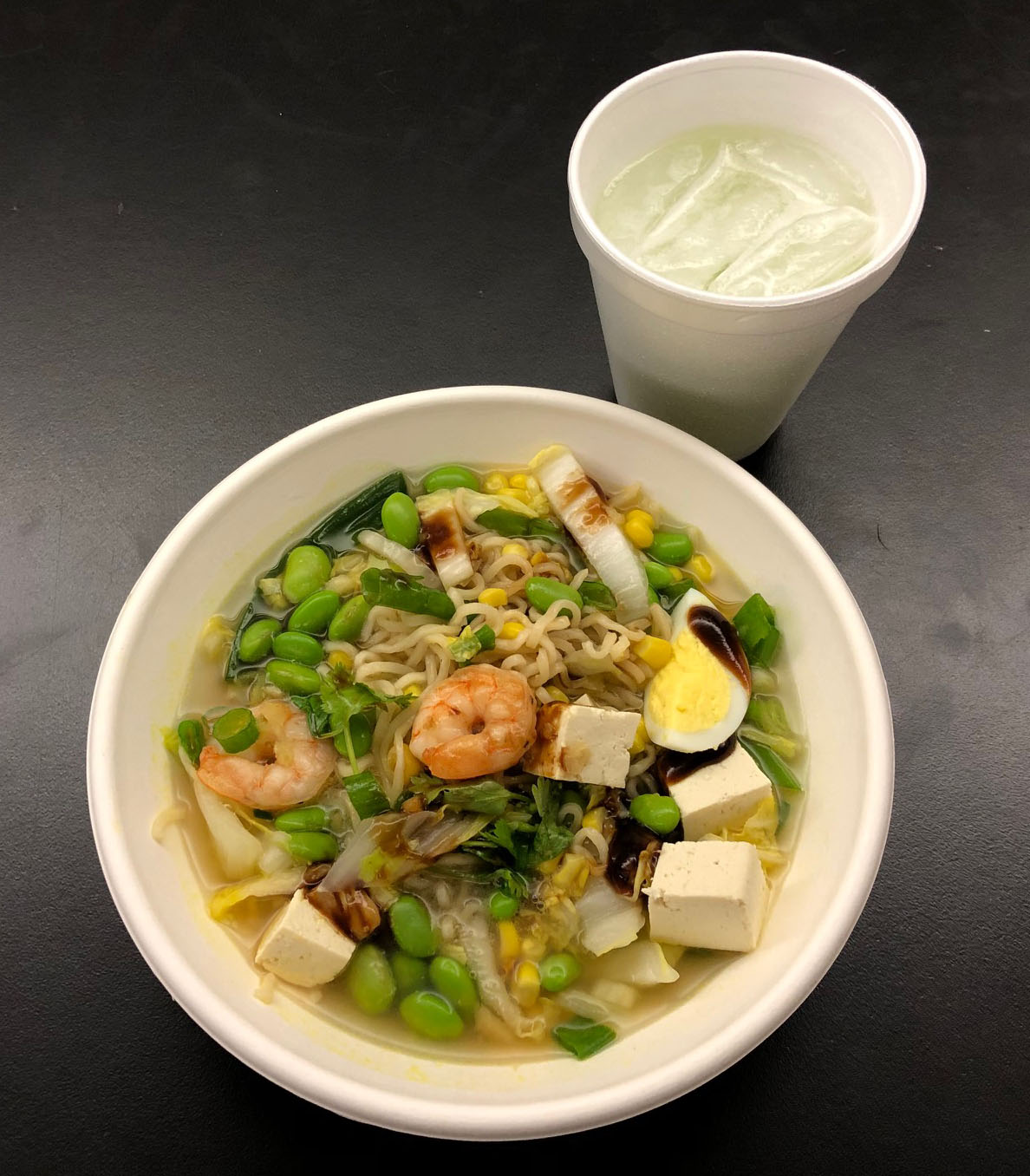The chefs showed students how to create a healthy ramen dish by using inexpensive ramen packages from the grocery store. Instead of adding the seasoning packet, students used broth and added vegetables and protein.